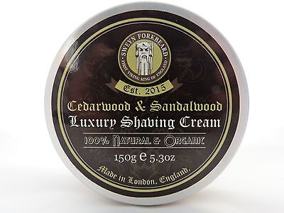 Shaving Cream Cedarwood & Sandalwood 100% Natural, Organic & Handmade in London