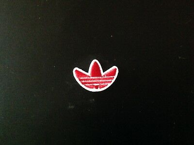 "1"" ADIDAS CLASSIC LOGO Red Embroidered Iron On/Sew On Patch USA SELLER"