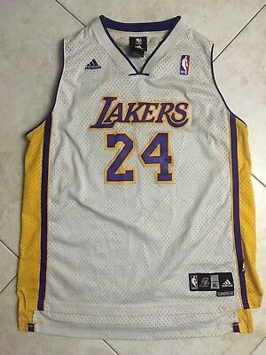 dd973398863 Men's Kobe Bryant NBA Adidas Los Angeles Lakers Jersey Sz Small +2 Length
