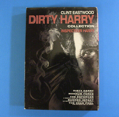 The Dirty Harry Collection (DVD, 2010, 6-Disc Set) Clint Eastwood ~ 5 movies