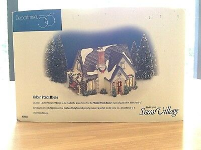 Department 56 Inc. The Original Snow Village Hidden Ponds House #54944 In Box