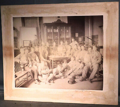 McCormick Boston BIG Photograph Cabinet Card 1880 Science Laboratory Boys Men