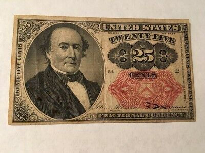 1866 Fractional Currency 25 Cent Walker