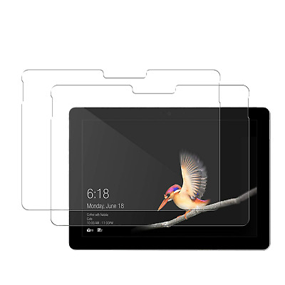 (2 Pack) Microsoft Surface Go 10-inch 2018 Clear Tempered Glass Screen Protector