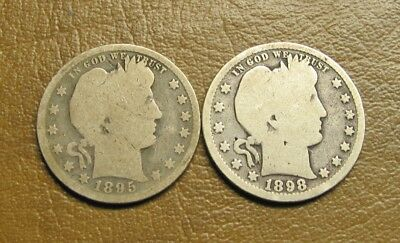1895 And 1898 Barber Quarters