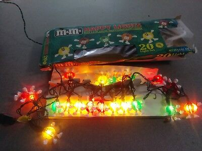 M&Ms Happy Lights String of 20 Christmas, Patio, RV, Party Lights, Approx. 10 Ft