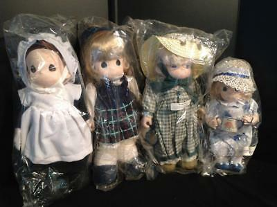 4 Precious Moments Dolls New in Bags.Sarah, Margaret, Martha, August Lot 11/11