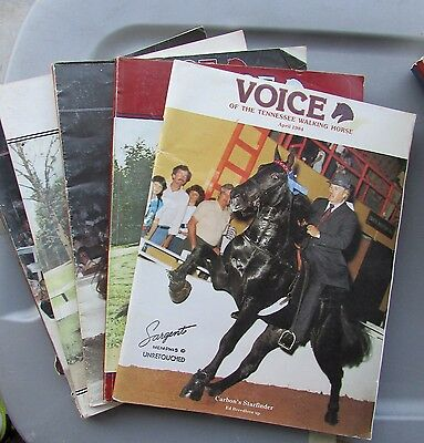 The Voice of the Tennessee Walking Horse Magazine Set - 1984
