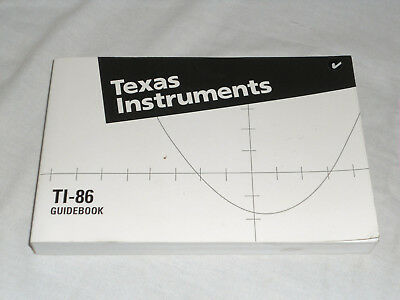 Texas Instruments TI-86 Graphing Calculator Guidebook Manual