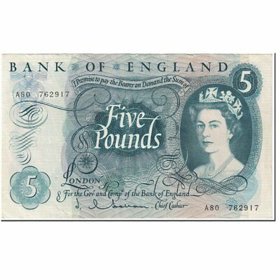 [#602080] Banknote, Great Britain, 5 Pounds, 1963, Undated (1963), KM:375a