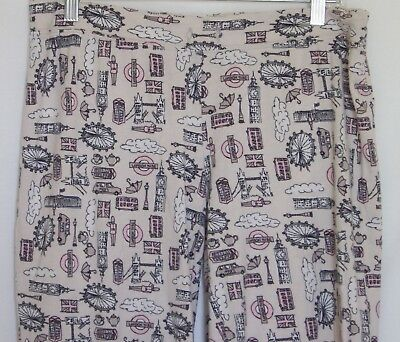 London Icons Lounge Pants Size Large Tower Eye Tube Westminster Cynthia Rowley
