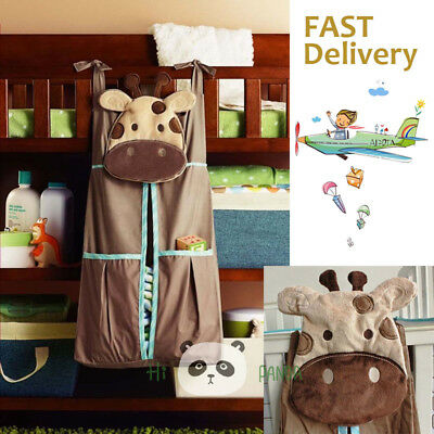 Baby Nappy Diaper Bag 3D Zoomorphism Embroidery Nursery Stacker Storage Hanger