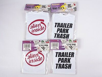 Set of 4, Mini Tee Shirts with Suction Cup - novelty gift, decoration, t shirt