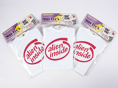 Mini Tee Shirt with Suction Cup - 3 ALIEN INSIDE t-shirt gifts