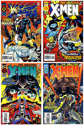 AMAZING X-MEN NM+ 4-ISSUE SET 1 2 3 4 AGE OF APOCALYPSE 1995 Marvel 2016 Movie