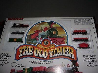 Bachmann Train SET The Old Timer N Scale 4-4-0
