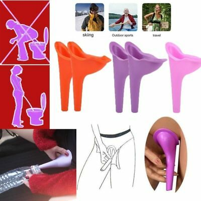 Female Urination Device Silicone Travel Toilet Urinal Case Stand Up Camping Pee