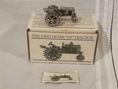 """John Deere """"GP""""  tractor Pewter Collection Tractor FREE SHIPPING"""