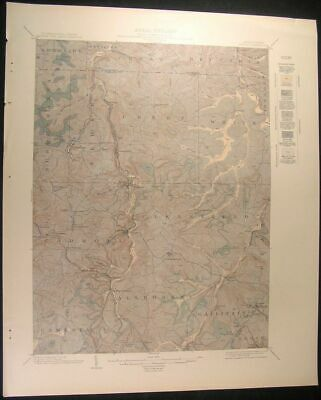 Patton Pennsylvania Cambria Clearfield 1913 vintage USGS original Topo chart map