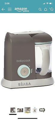BEABA Babycook 4-in-1 Steam Cooker  Blender Dishwasher Safe 4.5 Cups. Latte Mint