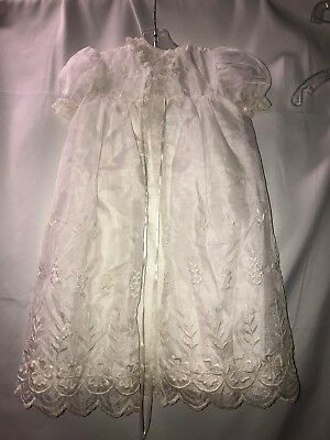 Vintage Madonna by Haddad baby christening gown and matching robe LOVELY