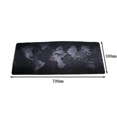 4 Sizes Black World Map Pattern Large Big Size Mousepad Mat Mouse Pad Desk Mats