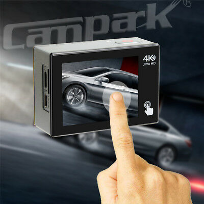 Campark 4K Touchscreen Sport Action Camera WiFi HD 20MP Impermeabile Telecomando