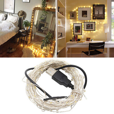 5/10M Garland USB Powered LED String Light Copper Wire Home Christmas Decoration
