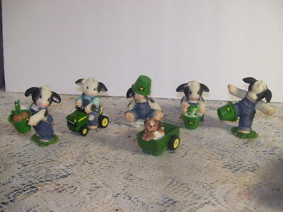 Mary's Moo Moos John Deere Set 6 Collection Enesco 2000
