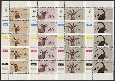 South West Africa - 1980 Antelopes In Control Strips Of Five  (20 Items)  Mnh