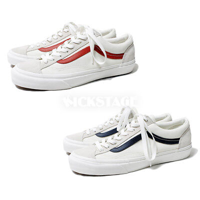25c025bcbd272b Vans Old Skool Style 36 Suede Marshmallow Racing Red Dress Blue