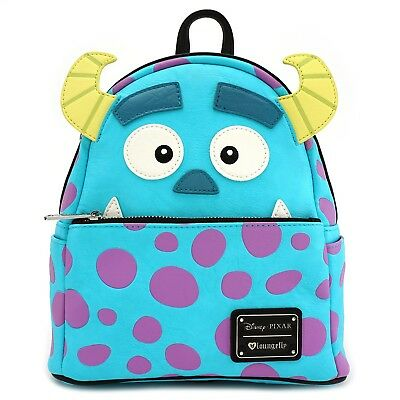 Loungefly Disney Monstres et Compagnie Sully Visage Simili Cuir Mini Sac à  Dos ea5bba7ee10