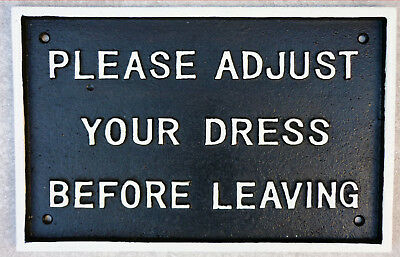 GWR Railway Station Toilet Sign PLEASE ADJUST YOUR DRESS BEFORE LEAVING Repro