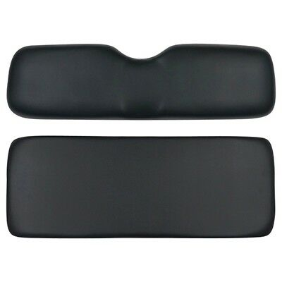 Ezgo Yamaha Club Car Golf Cart Black Rear Seat Replacement Cushions