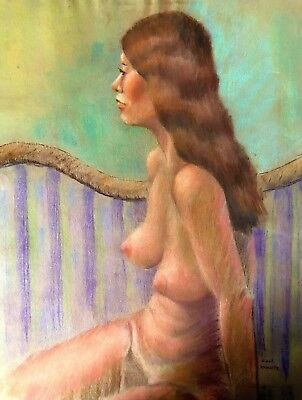 Mid 20th Century Pastel Figure Drawing - NUDE STUDY OF WOMAN ca;1960/AMERICAN-48