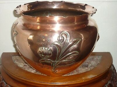 Arts and crafts copper Jardinere large Benham And Froud