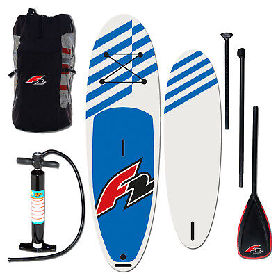 "F2 Allround Inflatable Sup Set 11,6"" Blue + Pumpe & Rucksack & Paddel Testboard"