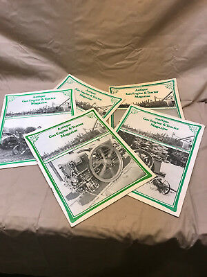 Antique Gas Engine & Tractor Magazine 5 issues, Hit Miss Steam Farm Collector