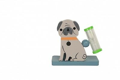 Gisela Graham Childs Bathroom Pug Toothbrush Timer - Novelty Gift Idea