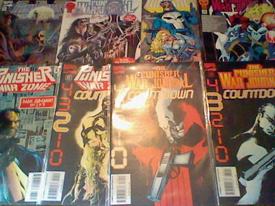 The Punisher: War Journal Lot 75,76,79,80 War Zone 38,39,41; 96 =0 Lynn Michaels
