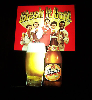 Vintage 1983 Stroh's Check it Out! Lighted Beer Sign 20.5 x 15.5 Everbrite Stroh