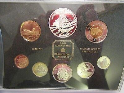 2003 Canada Silver Proof set, 100th anniversary Cobalt Silver Strike