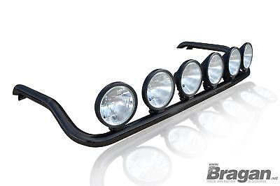 To Fit DAF XF 106 13+ Super Space Cab Black Roof Bar+ Round Spots+ LEDs - Type B