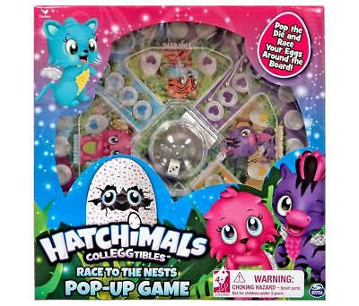 Hatchimals Colleggtibles Race to the Nest Pop Up Dice Game Girls Kids 2-4 Player