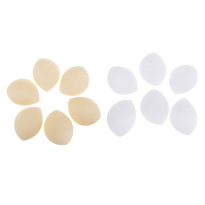 6 Pairs Removable Bra Inserts Pads Enhancer Comfortable Breathable Bra Pads