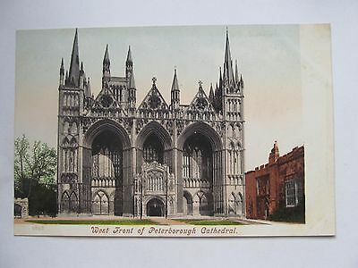 Great Britain & Ireland Postcard, West Front of Peterborough Cathedral, 5653