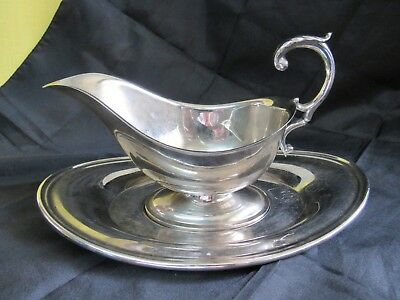Vintage Viking Silver Plate*Copper Gravy Boat w/ Under Plate- Made in Canada-