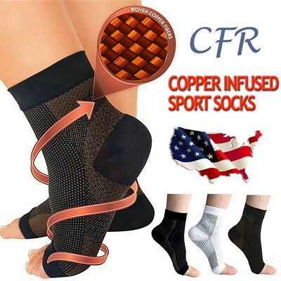 Fasciitis Foot Angel Ankle SOCKS Anti-Fatigue Compression Swelling Relief Socks