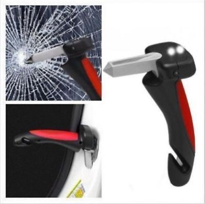 "Portable Handle ""Car Cane"" Aid Auto Flashlight Glass Breaker Seatbelt Cutter"