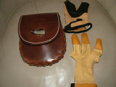 Archers hip bag & shooting gloves XL right hand